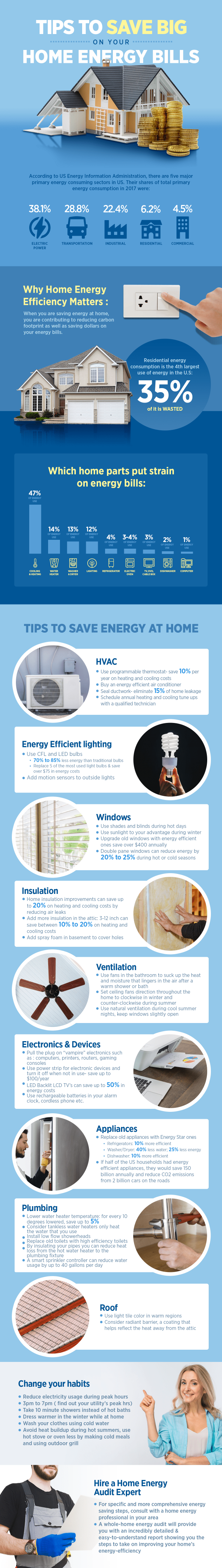 tips to save on energy at home